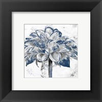 Framed Navy Blue Dahlia
