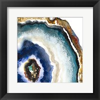 Framed Up Close Agate Watercolor II