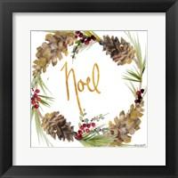 Framed Gold Christmas Wreath III