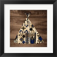 Framed Teepee on Wood