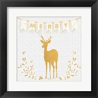 Framed Gold Reindeer II