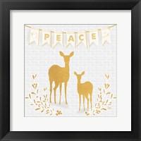 Framed Gold Reindeer I