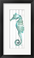 Framed Print of Seahorse on Wood Plank