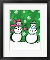 Framed Silly Snowmen V