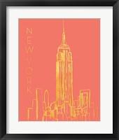 Framed New York on Coral