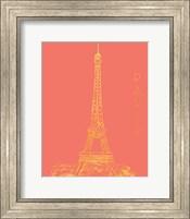 Framed Paris on Coral