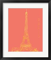 Framed Paris on Coral