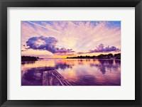 Framed Sunset Dock