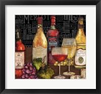 Framed Wine Still Life on Black