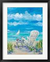 Framed Beach Lounging