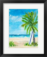 Framed Tropical Surf I