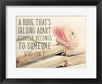 Framed Bible Quote
