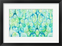 Framed Emerald Abstract
