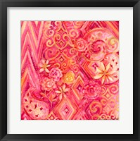 Framed Pink Abstract