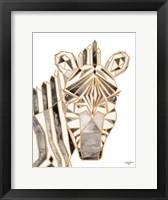 Framed Retro Zebra