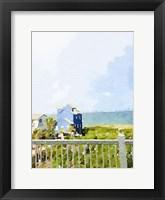Framed Watercolor Coastal Cottage