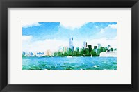 Framed Watercolor NYC Skyline I