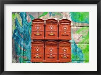 Framed City Mail Boxes