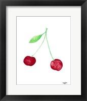 Framed Two Cherries I