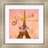 Framed Gold Paris Eiffel