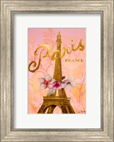 Framed Gold Paris Eiffel Panel
