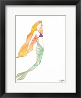 Framed Origami Mermaid