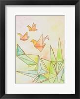 Framed Origami Cranes