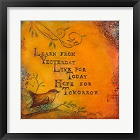 Framed Learn Live Hope I