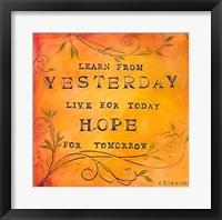 Framed Learn Live Hope II