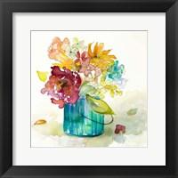 Framed Flower Burst in Vase II