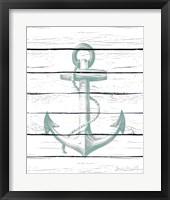 Framed Anchor on Wood