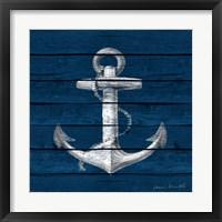 Framed Anchor on Blue Wood