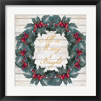 Framed All Is Merry & Bright