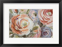 Framed Orange & Violet Ranunculus