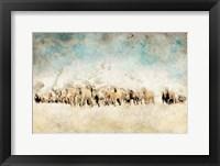 Framed Roaming Horses