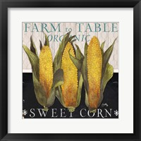 Framed Vegetable Farm Fresh I