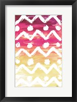 Framed Watercolor Pattern I