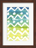 Framed Watercolor Pattern III