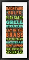 Framed Backyard Rules