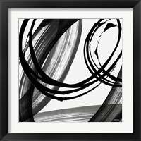 Framed Black and White Pop I