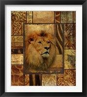 Framed Decorative Safari II (Lion)