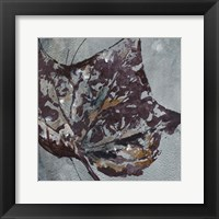 Framed Watercolor Leaves Square II