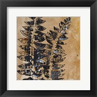 Framed Watercolor Leaves Square III