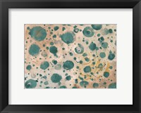 Framed Rustic Turquoise Dots
