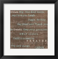 Framed Encouraging Words