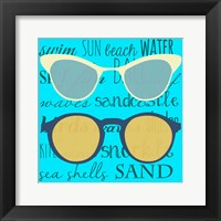 Framed Coastal Shades I