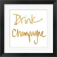 Framed Drink Champagne