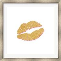 Framed Gold Kiss