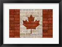 Framed Canada License Plate Flag