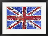 Framed Uk Flag License Plate